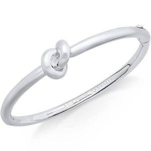 Kate Spade silver Sailor's knot hinged bangle